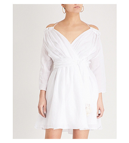 THREE GRACES LONDON Tessa ramie dress (White+lightweight+ramie