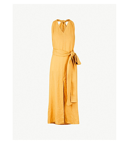 THREE GRACES LONDON Minerva linen dress (Topaz