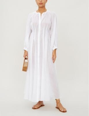 Valeraine linen maxi dress