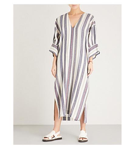THREE GRACES LONDON Livietta striped cotton-blend kaftan (Lalaria+stripe
