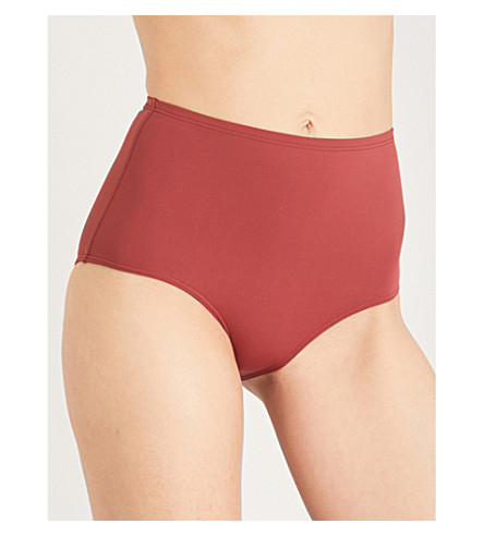 THREE GRACES LONDON High-rise bikini bottoms (Brick
