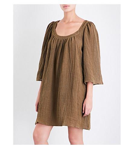 THREE GRACES LONDON Ilara linen-blend mini dress (Olive