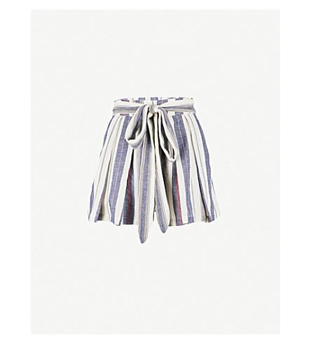 THREE GRACES LONDON Kilman self-tie stretch-cotton shorts (Lalaria+stripe