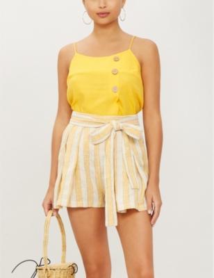 Jola linen-blend shorts