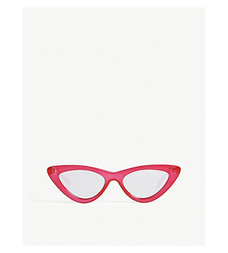 LE SPECS The Last Lolita cat-eye sunglasses (Opaque+red