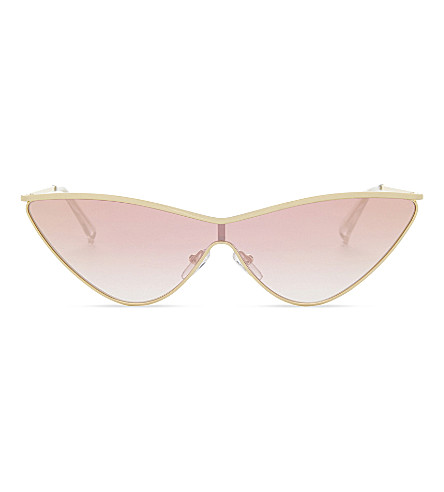 LE SPECS The Fugitive cat eye-frame sunglasses (Bright+gold