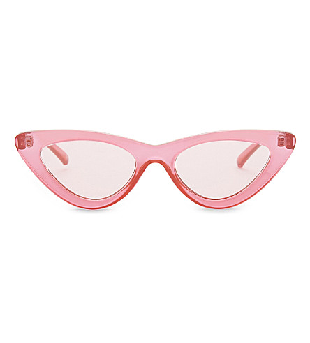 LE SPECS The Last Lolita cat-eye sunglasses (Hot+pik+pik+flash+mirror