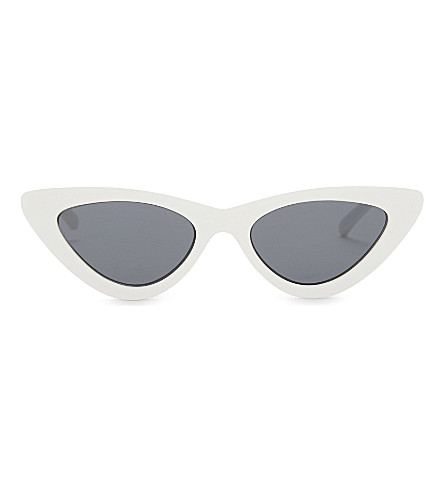 LE SPECS 最后 LOLITA 猫眼太阳镜 (白色雾状 + 单声道