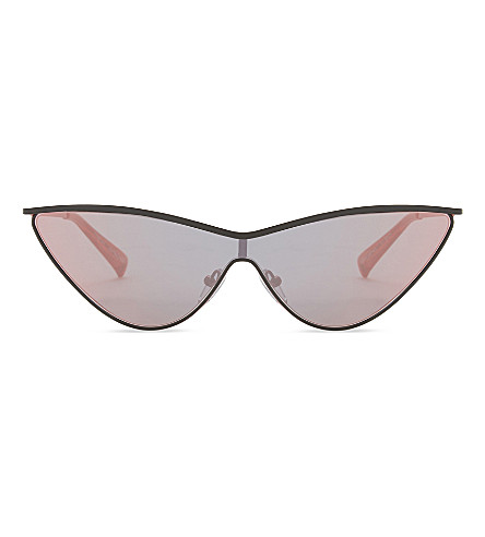 LE SPECS The Fugitive cat-eye sunglasses (Black+redcoral+mirror