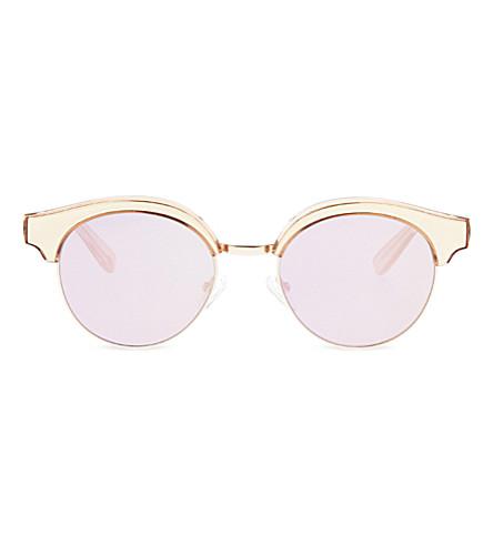 LE SPECS Cleopatra half-frame sunglasses (Blush