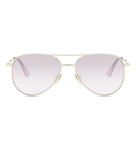 LE SPECS Imperium Aviator-style rose-gold sunglasses (Gold