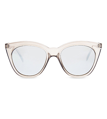 LE SPECS Halfmoon Magic cat-eye sunglasses (Stone/silver