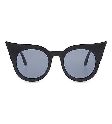 LE SPECS Flashy cat-eye sunglasses (Black