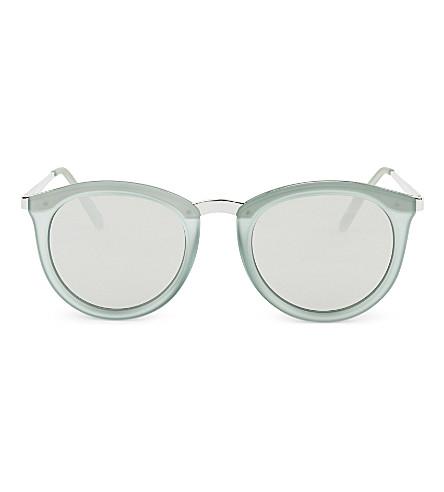 LE SPECS No Smirking round sunglasses (Olive+rubber/silver