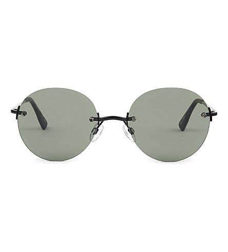 LE SPECS Bodoozle round sunglasses (Matte+black