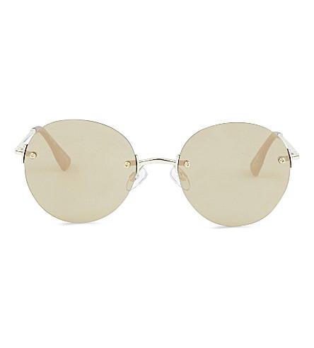 LE SPECS Bodoozle round sunglasses (Matte+gold