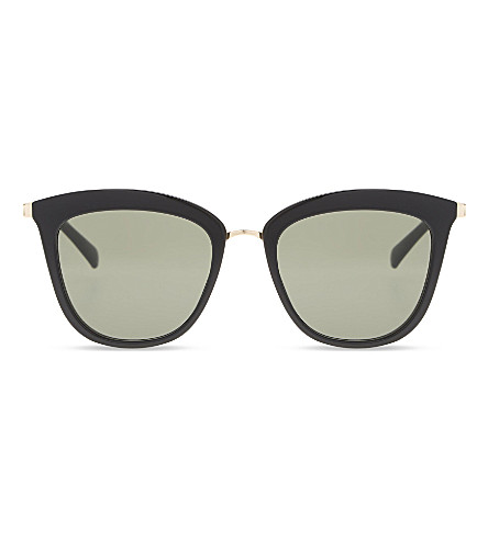 LE SPECS Caliente square-frame sunglasses (Black/gold