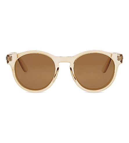 LE SPECS Hey Macarena round-frame sunglasses (Blonde