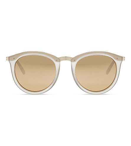 LE SPECS No smirking round-frame sunglasses (Mist+matte