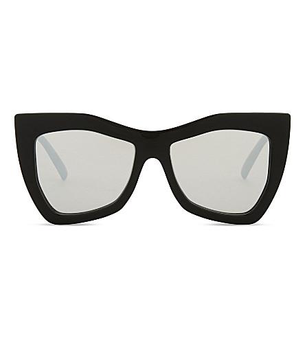 LE SPECS Kick it square-frame sunglasses (Black