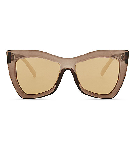 LE SPECS Kick it square-frame sunglasses (Pebble