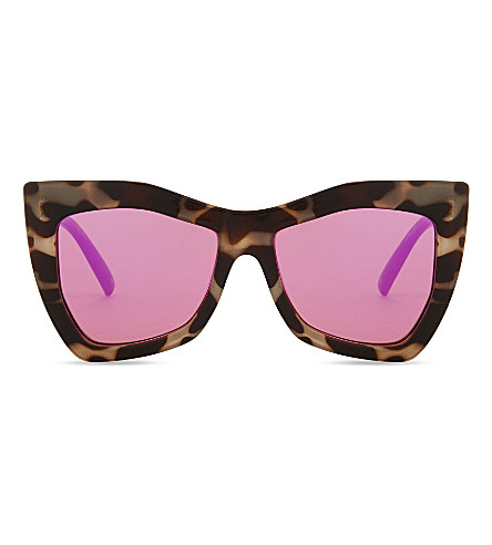 LE SPECS Kick it square-frame sunglasses (Milky+tort