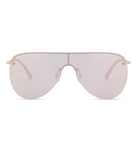 LE SPECS The King aviator sunglasses (Rose+gold