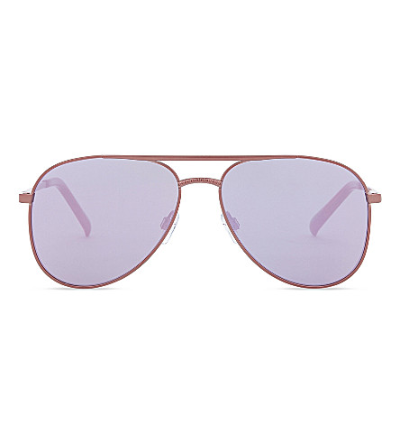 LE SPECS Kingdom aviator sunglasses (Matte+rose+peach