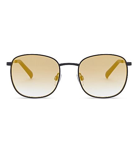 LE SPECS Neptune square-frame sunglasses (Matte+black+gold