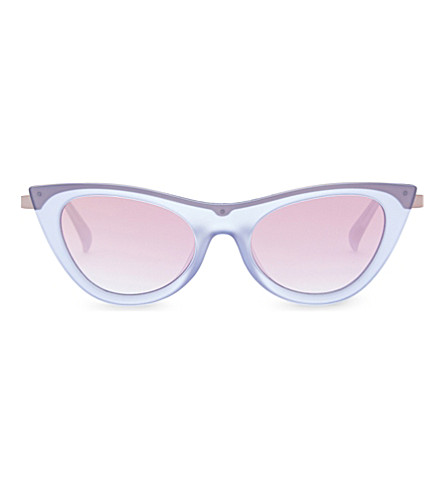 LE SPECS Enchantress cat-eye sunglasses (Blue+quartz+rose