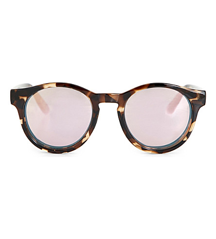 LE SPECS Hey Macarena tortoiseshell round-frame sunglasses (Coal+tort