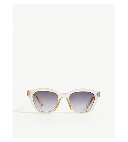 LE SPECS Wannabae square-frame sunglasses (Blonde
