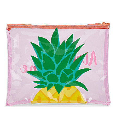 SUNNYLIFE Pineapple beach pouch (Pink