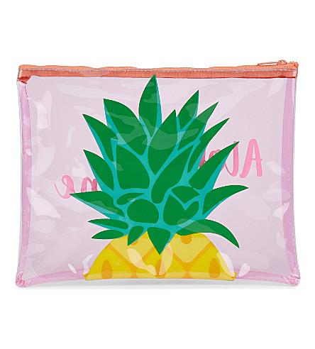 SUNNYLIFE 菠萝沙滩手包 (粉红色