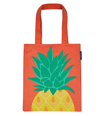 SUNNYLIFE Pineapple cotton tote bag (Multi-coloured