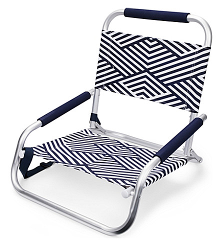 SUNNYLIFE Montauk patterned beach seat (Blue