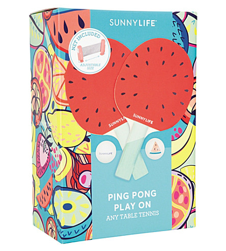 SUNNYLIFE Watermelon ping pong set (Red