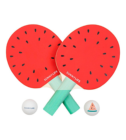 SUNNYLIFE Watermelon ping pong game (Pink