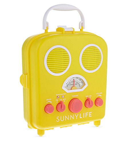 SUNNYLIFE Beach sounds radio (Blazing yellow