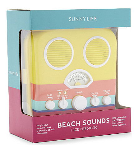 SUNNYLIFE Beach sound AM/FM radio and speaker (Multi-coloured