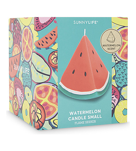 SUNNYLIFE Small watermelon candle (Red