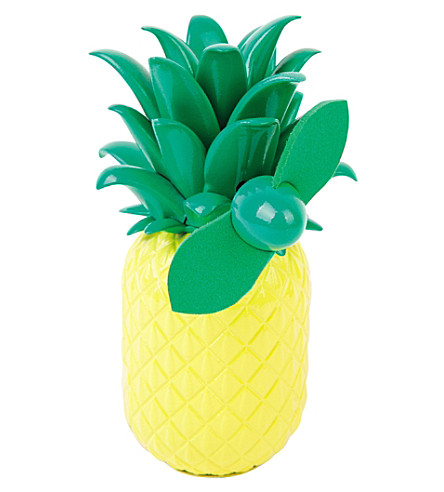 SUNNYLIFE Pineapple beach fan (Yellow