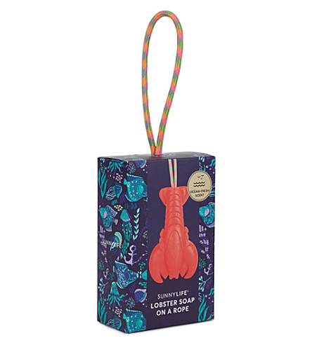 SUNNYLIFE Lobster soap on a rope (Red