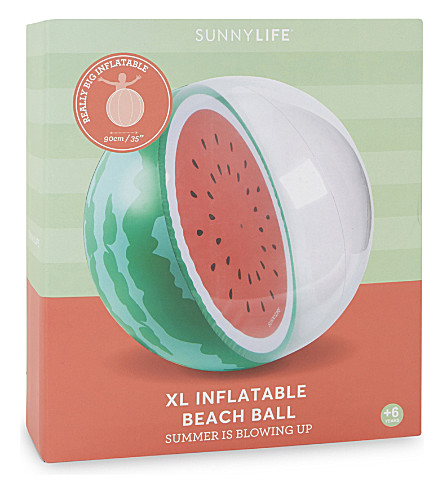 SUNNYLIFE Extra-large watermelon print beachball (Multi
