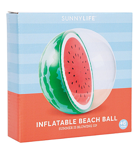 SUNNYLIFE Inflatable beach ball (Watermelon