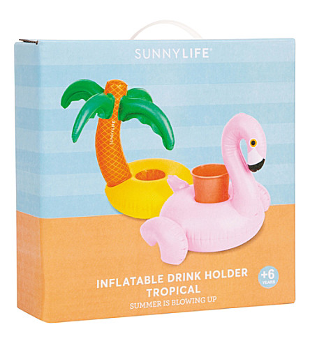 SUNNYLIFE Tropical inflatable drink holders (Multi-coloured