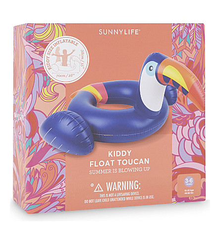 SUNNYLIFE Kiddy toucan float 3-6 years (Blue