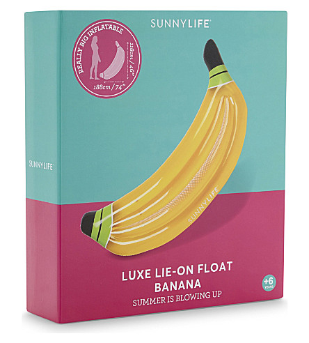 SUNNYLIFE Luxe lie-on inflatable banana (Yellow
