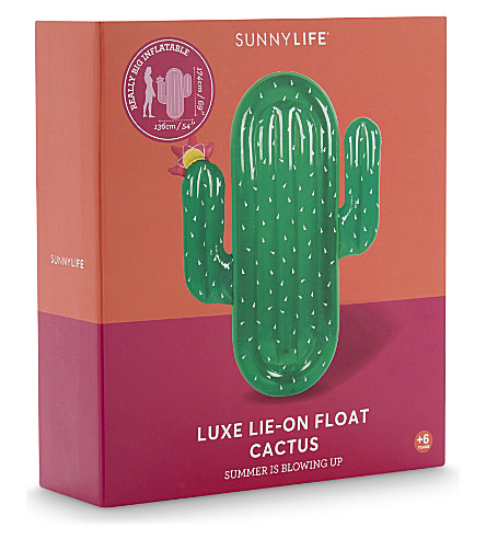 SUNNYLIFE Luxe lie-on inflatable cactus (Green