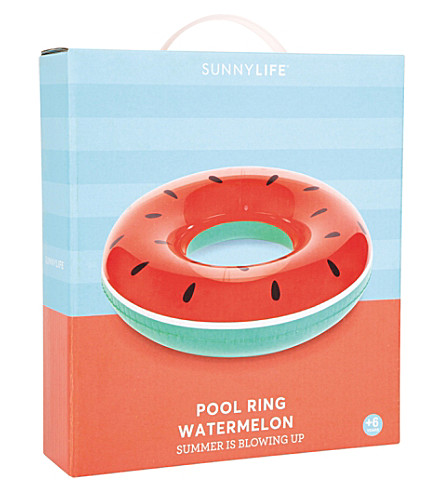 SUNNYLIFE Watermelon pool ring (Red